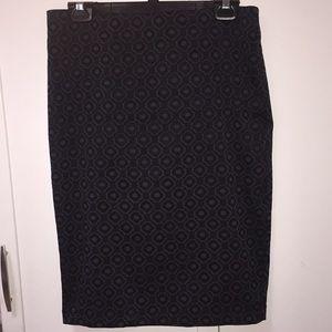Dresses & Skirts - Navy medallion midi skirt